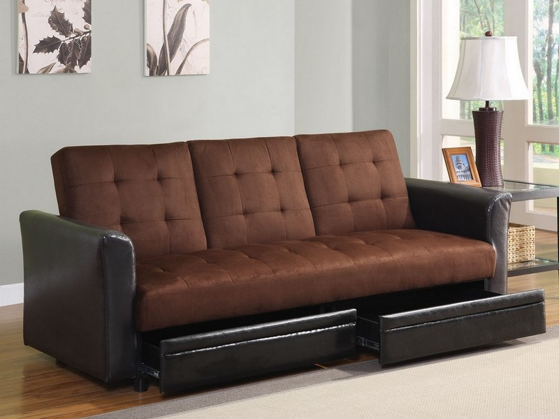 Microfiber Sofa Bed Sleeper Couch Set