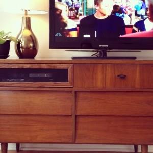 Mid Century Modern Dresser As Tv Stand