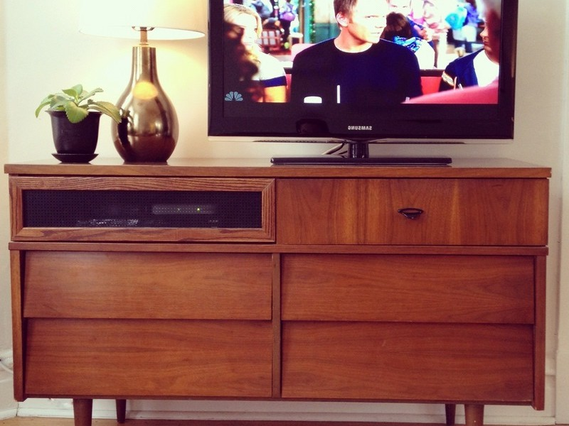 Mid Century Modern Dresser As Tv Stand