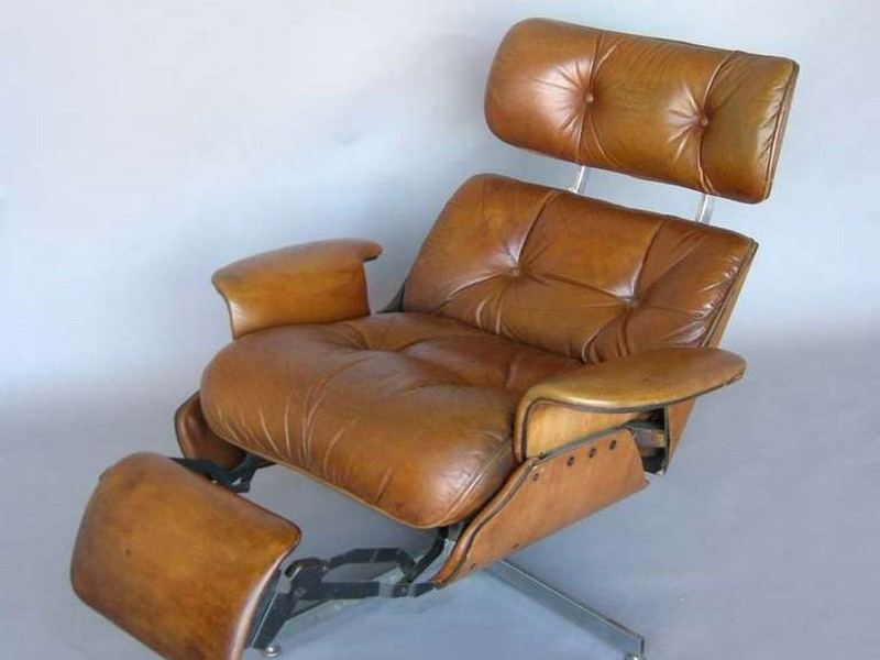 Mid Century Modern Leather Recliner