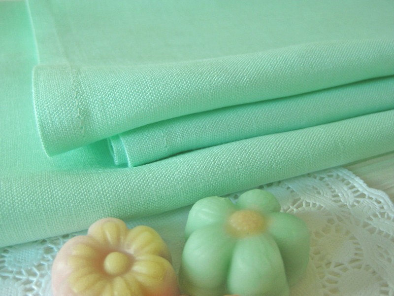 Mint Green Linen Napkins
