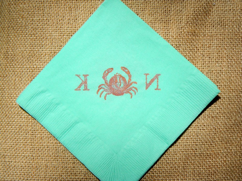 Mint Green Napkins Paper