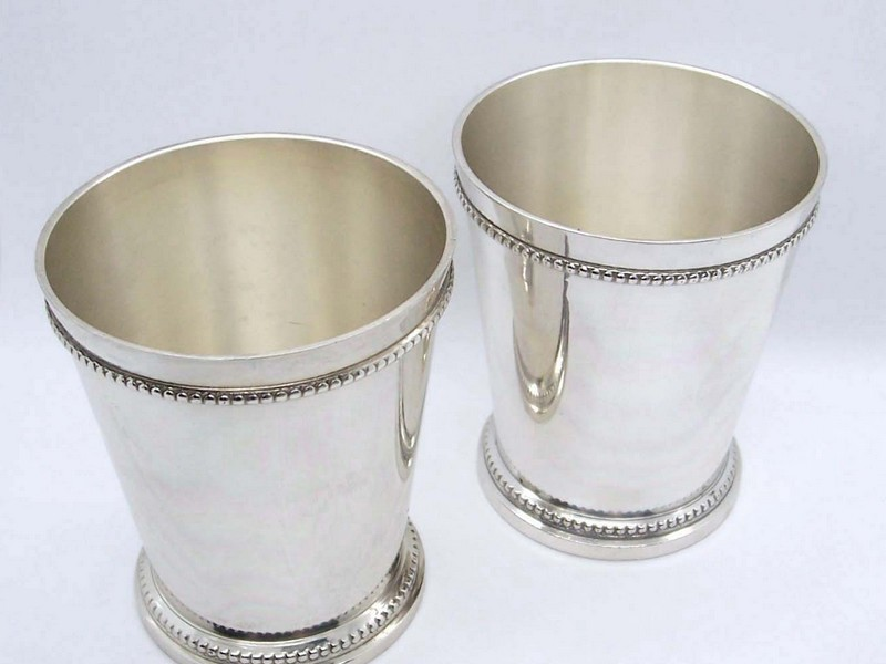 Mint Julep Glasses Silver