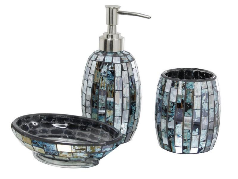 Mirrored Bathroom Accessories Sets