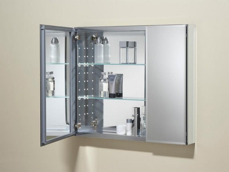 Mirrored Bathroom Cabinet With Shelf