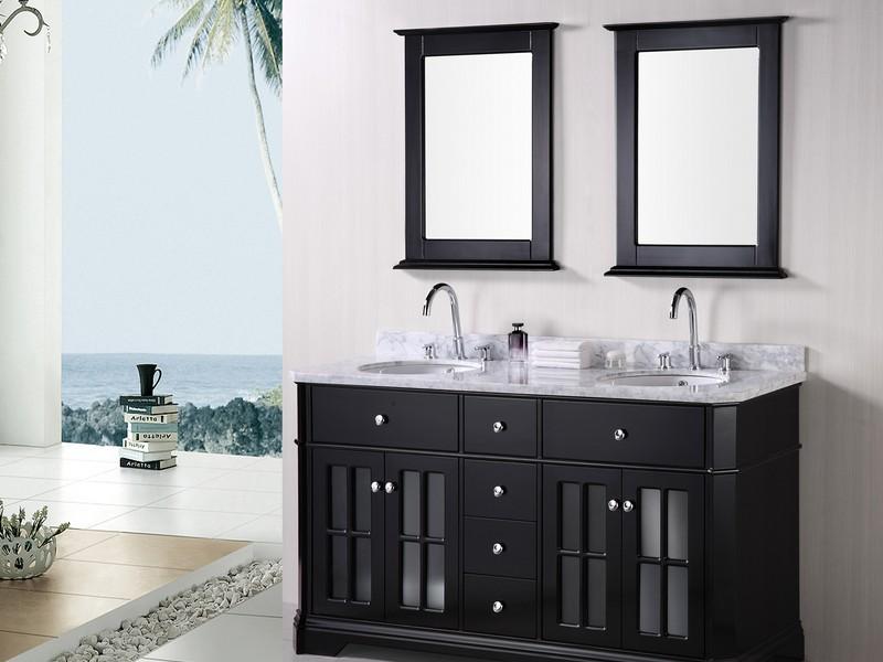 Mirrored Bathroom Vanity With Sink