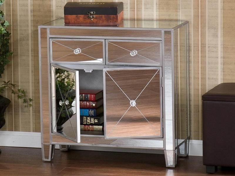 Mirrored Console Cabinet