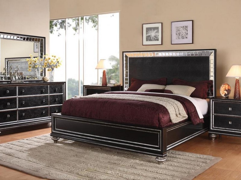 Mirrored Glass Bedroom Set
