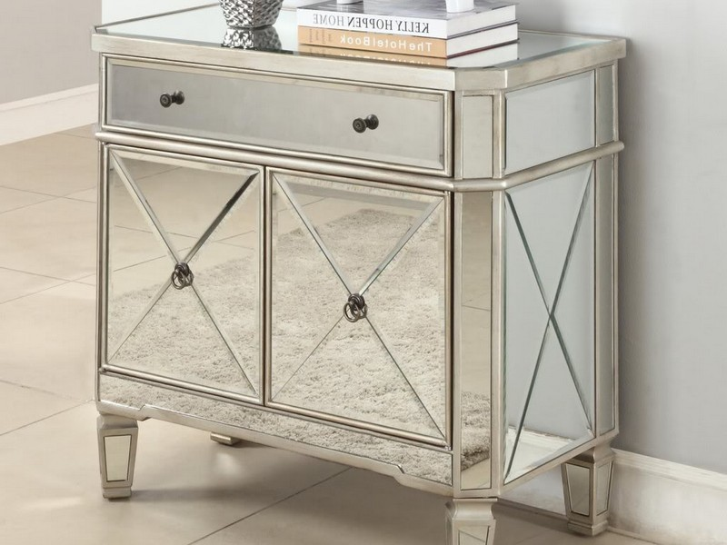 Mirrored Night Stands