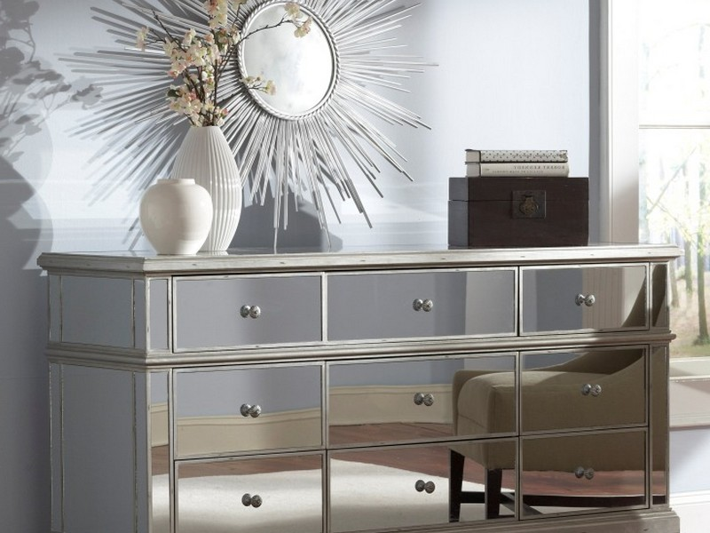 Mirrored Nightstands With Drawers
