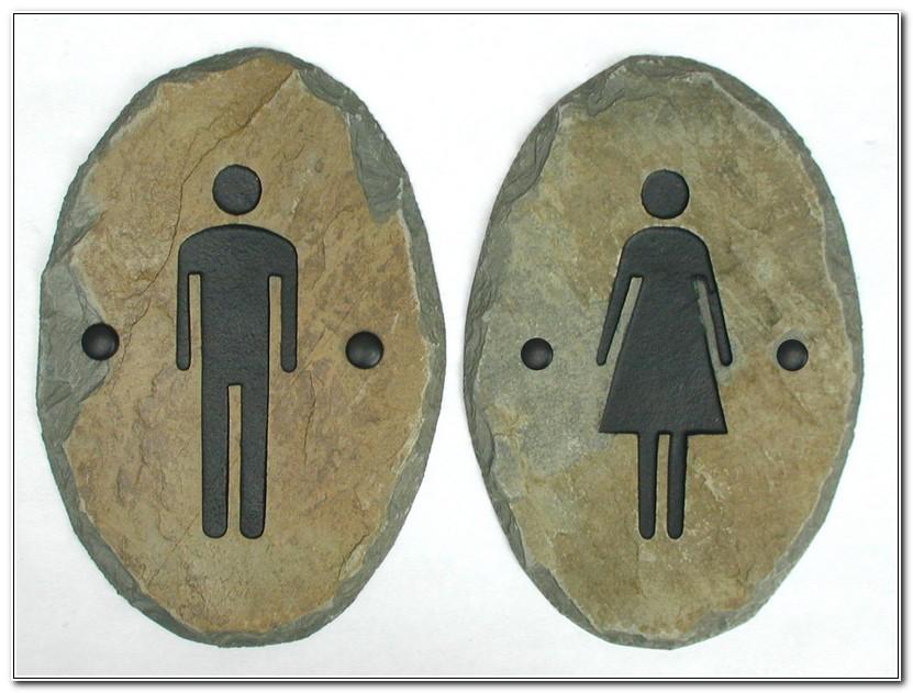Modern Bathroom Door Signs