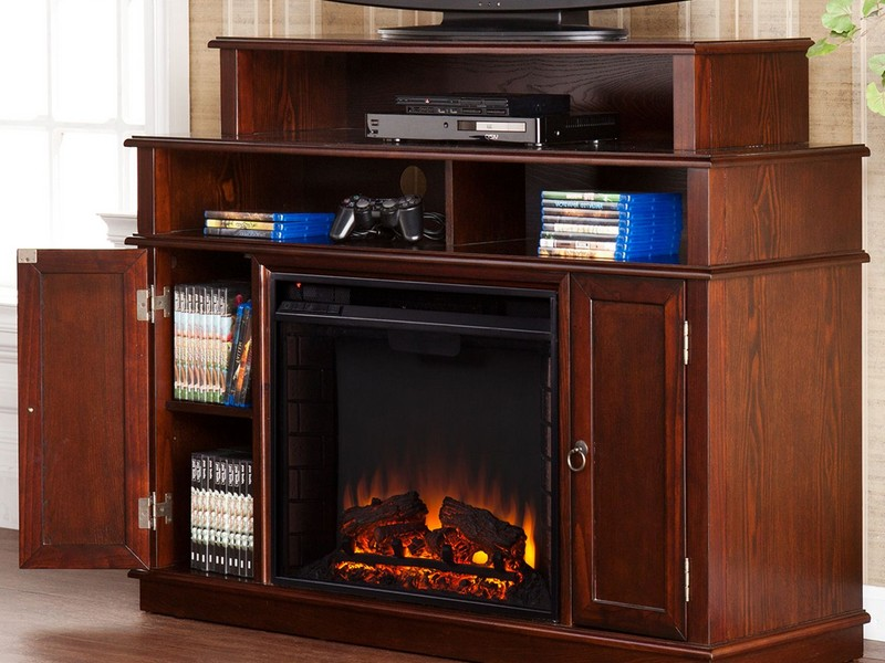 Modern Electric Fireplace Media Console