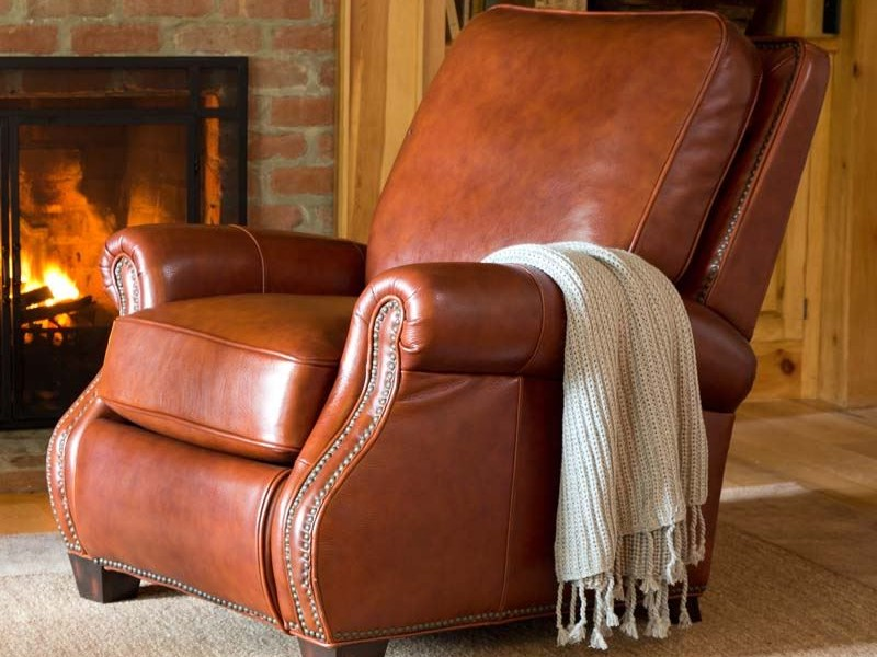 Modern Leather Reclining Sofa
