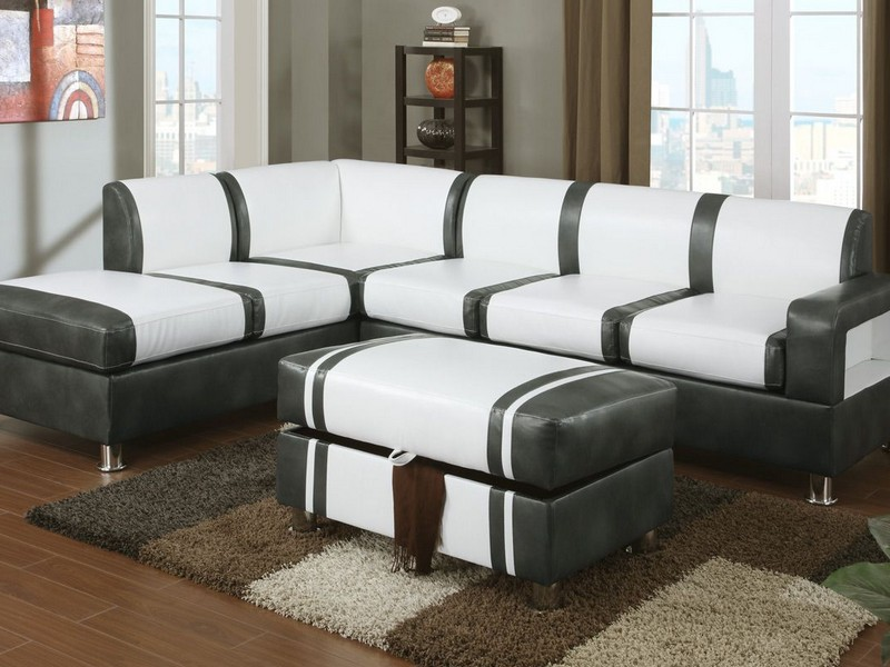 Modern Leather Sectional Couch