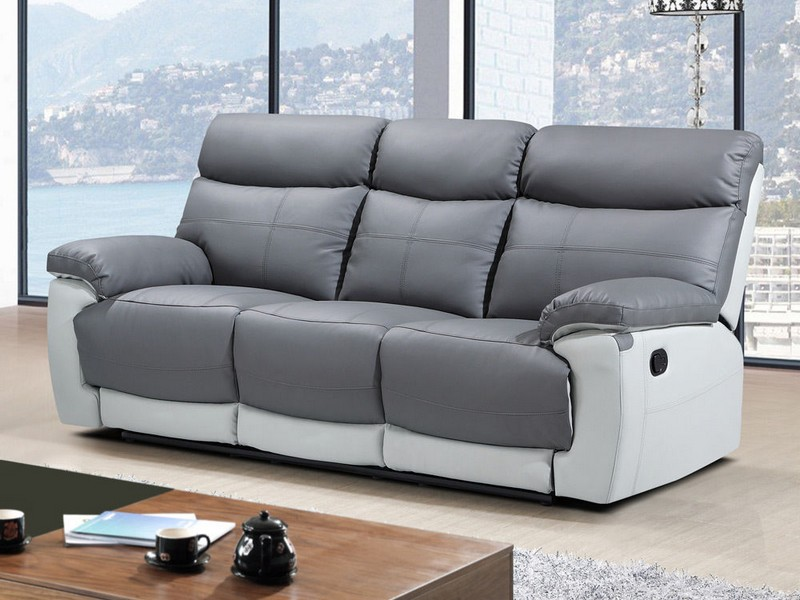 Modern Leather Sofa Recliner
