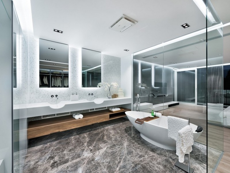 Modern Master Bathroom Vanities