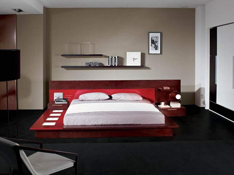 Modern Platform Bed With Lights