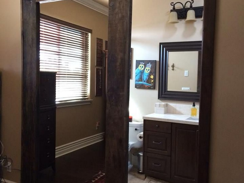 Modern Pocket Doors Bathroom