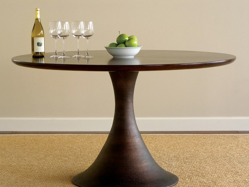 Modern Round Foyer Table
