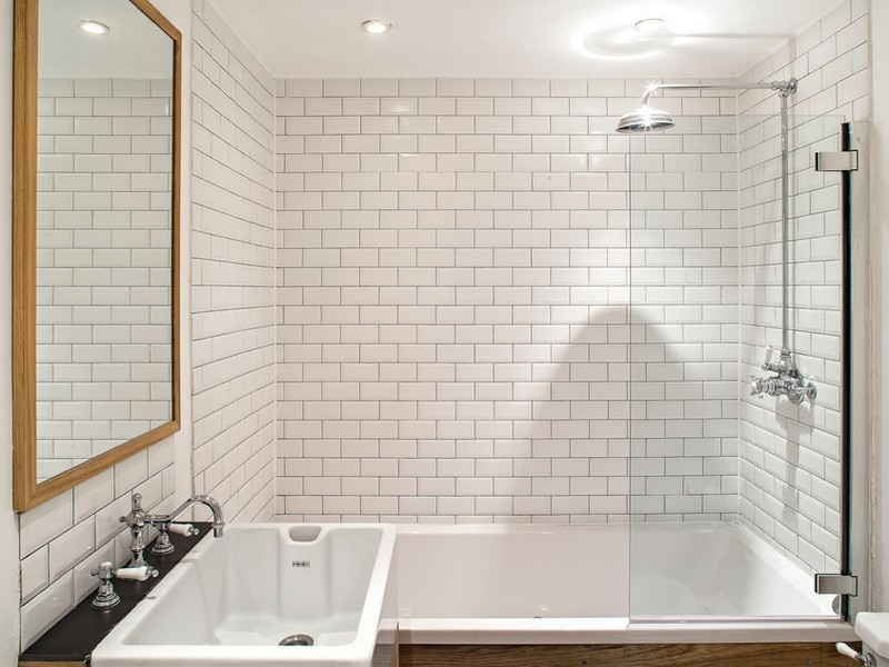 Modern Subway Tile Bathrooms