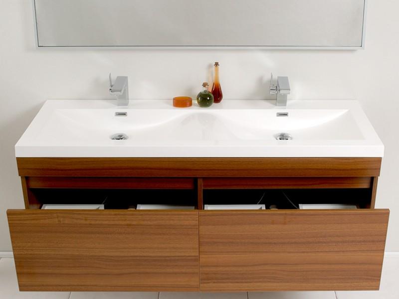 Modern Teak Bathroom Vanity