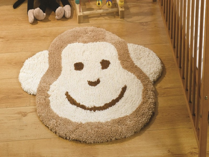 Monkey Rug For Baby Room