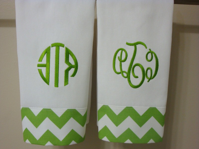 Monogrammed Bath Towels Wedding Gift