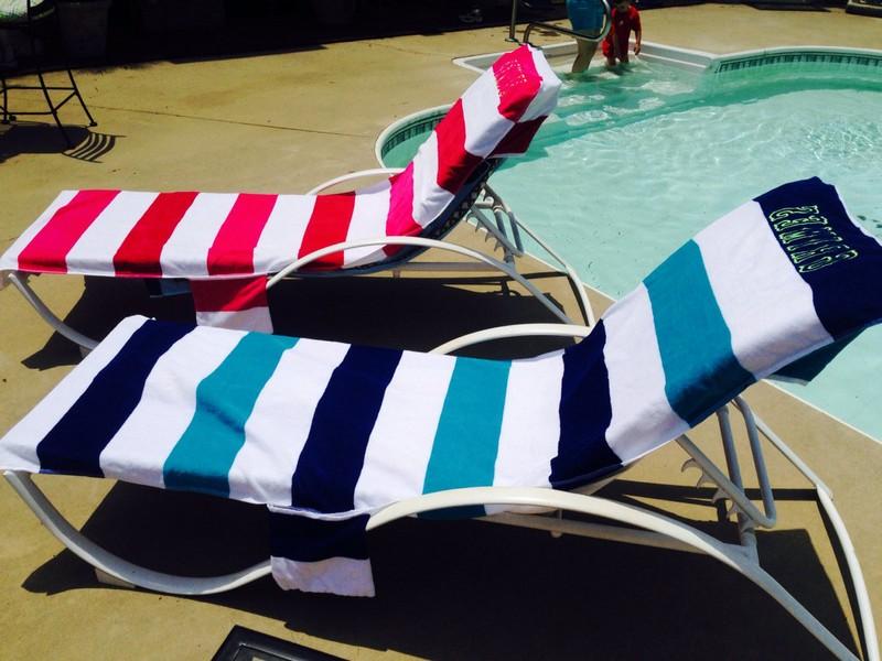 Monogrammed Beach Chair Covers