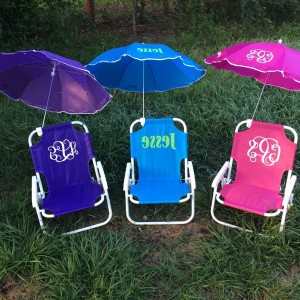 Monogrammed Beach Chairs