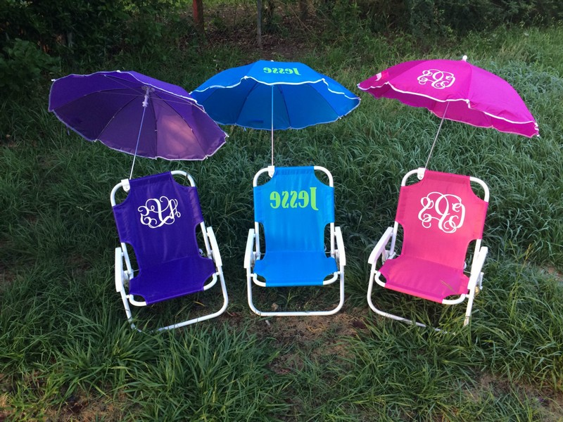 Monogrammed Beach Chairs