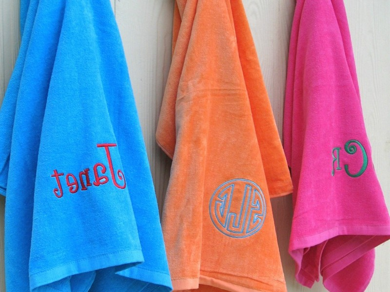 Monogrammed Beach Towels And Totes