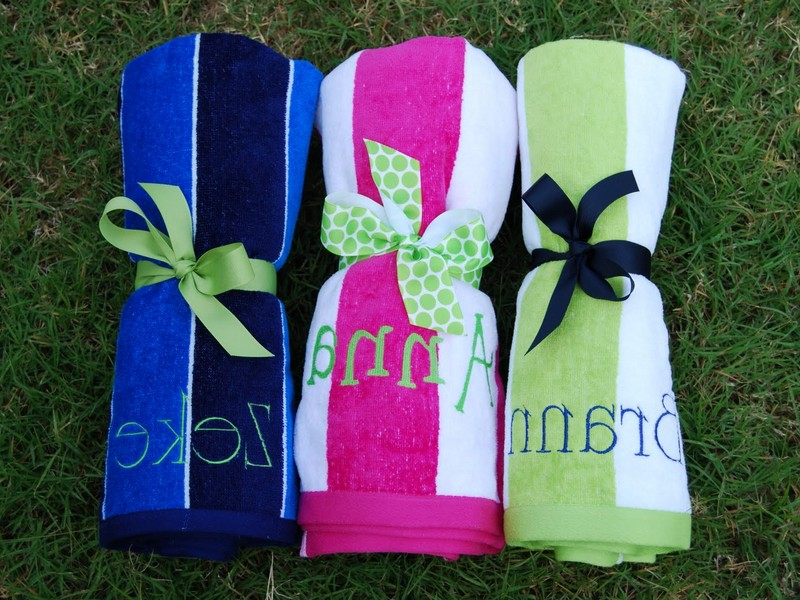 Monogrammed Beach Towels For Adults