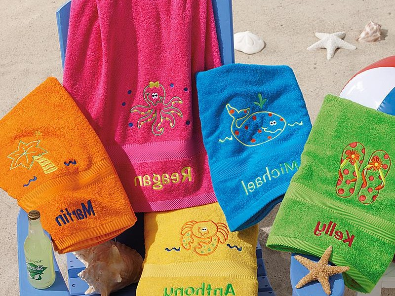 Monogrammed Beach Towels Ll Bean
