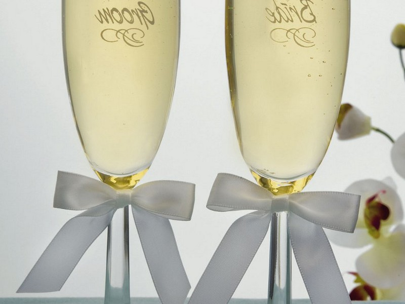 Monogrammed Champagne Flutes