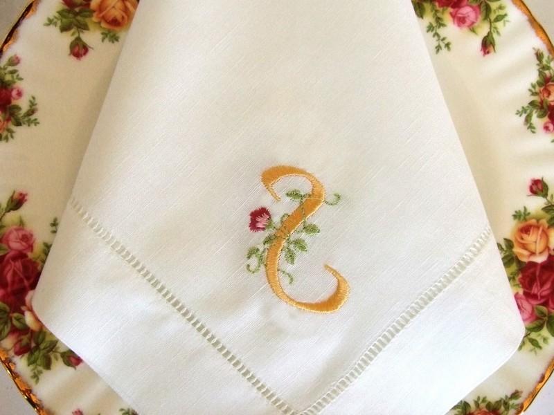 Monogrammed Cloth Napkins