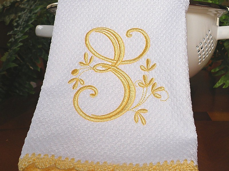 Monogrammed Dish Towels Etsy