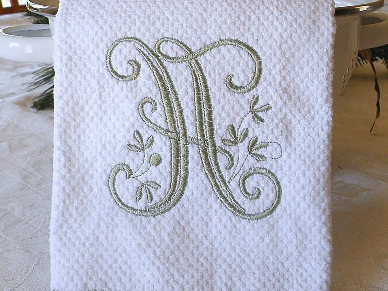 Monogrammed Dish Towels