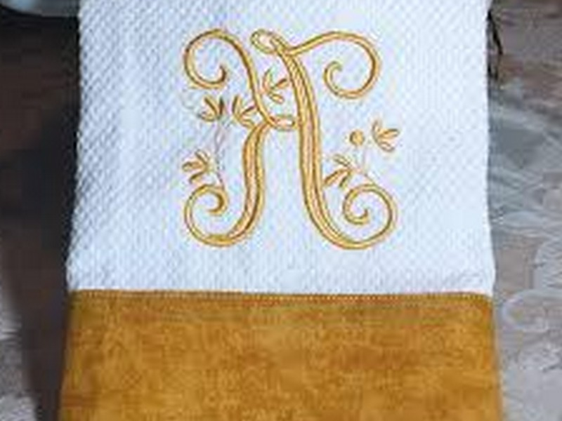 Monogrammed Hand Towels Etsy