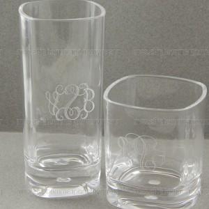 Monogrammed Highball Glasses