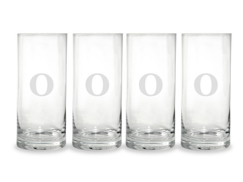 Monogrammed Highball Glasses Set Of 4