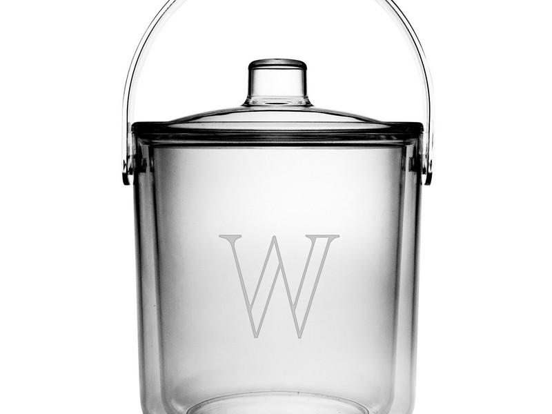 Monogrammed Ice Bucket Acrylic