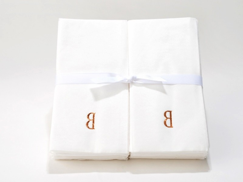 Monogrammed Paper Hand Towels