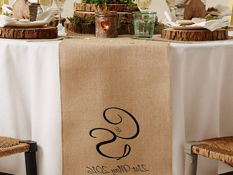 Monogrammed Table Runners Wedding
