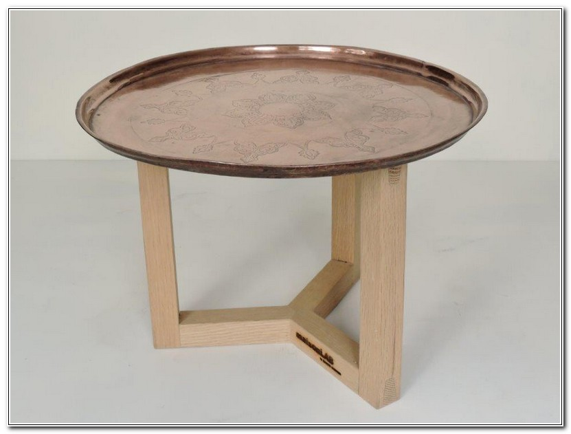 Moroccan Copper Tray Table