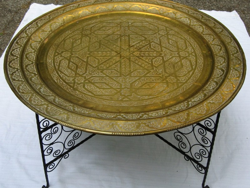 Moroccan Tea Tray Table