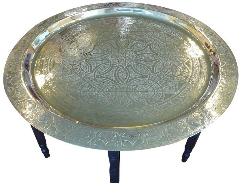 Moroccan Tray Table Silver