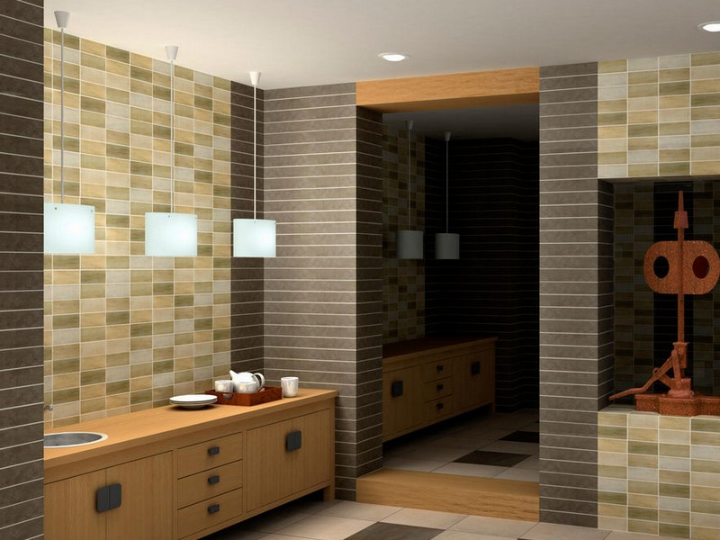 Mosaic Bathroom Floor Tile Design
