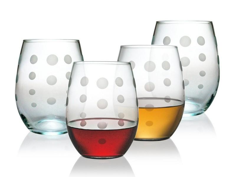 Multi Colored Stemless Wine Glasses
