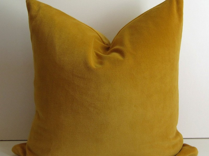 Mustard Yellow Throw Pillows