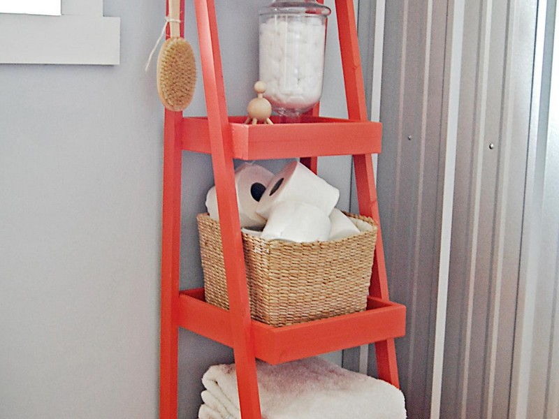 Narrow Bathroom Storage Tower